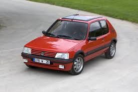 pezo car peugeot 205 gti crowned