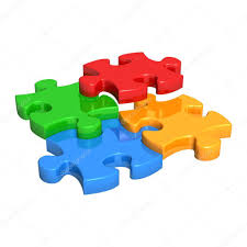 Pieces Meaning Puzzle Pieces Falling Into Place U2014 Stock Photo Diamond Images
