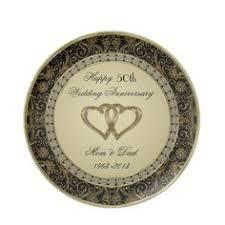 50th wedding anniversary plates 50th golden wedding anniversary gift with swarovski