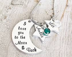 I Love You To The Moon And Back Personalized Necklace To The Moon And Back Etsy