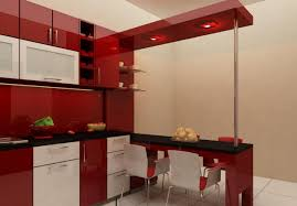 beautiful inspiration kitchen design red and white modern with