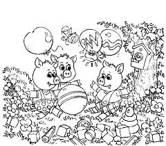 three little pigs and the big bad wolf coloring pages batch coloring