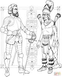 indian man and knight coloring page free printable coloring pages