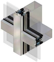 stick system curtain wall aluminum and glass aa100 kawneer