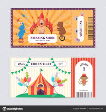 graphic design birthday invitations circus ticket design template amazing show with trained animals