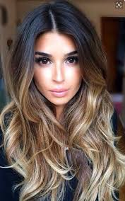 gorgeous hair i love the pretty brown color with beautiful styled balayage quiet dark up the top and blends in to a
