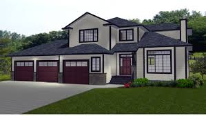 square feet of 3 car garage house plans with 3 car garage on side modern hd
