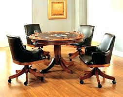 rolling dining room chairs dining table with caster chairs dining table with caster chairs