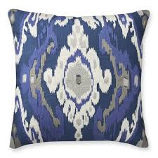 istanbul ikat embroidered pillow cover blue williams sonoma