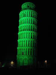 the leaning tower of pisa italy went green for st patrick u0027s day