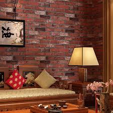 cheng shuo wallpaper pvc retro brick wallpaper hotel decoration