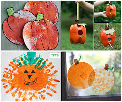 Halloween Crafts For Little Kids - easy pumpkin crafts for kids to make this fall coffee filters