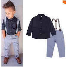 baby boy gentleman formal suits boys t shirt suspender