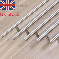 stainless steel kitchen cabinet doors uk stainless steel hollow t bar kitchen cabinet door handles drawer pull knob