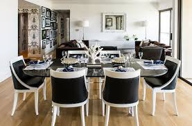 white dining room sets black and white chairs eclectic dining room janet rice interiors