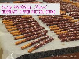 where to buy pretzel rods chocolate dipped pretzels edible wedding favors the borrowed