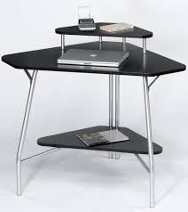 small black corner desk brown varnished oak corner computer desk