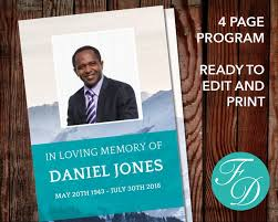 print funeral programs 82 best landscape funeral program templates images on