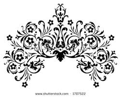 vintage baroque frame border corner stock vector