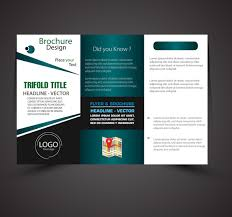 free vector modern trifold brochure design template free vector