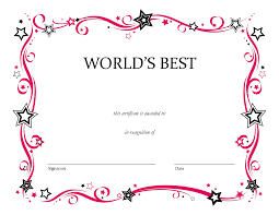 32 free certificate templates to print 6 best images of birthday