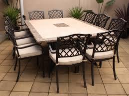 Outdoor Dining Room Ideas Patio Dining Table Costco Saratoga 11 Piece Sling Patio Dining