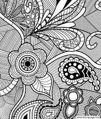 flowers paisley design coloring pages printable