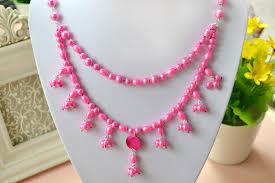 double strand beaded necklace images Free diy tutorial on how to make a double stranded pearl necklace jpg