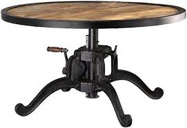 adjustable height end table industrial adjustable height coffee table coffee tables living