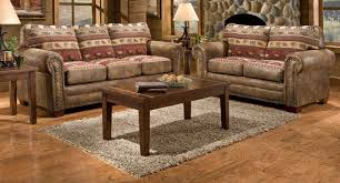 Western Living Room Furniture Modern Brown Faux Leather Upholstery Sofa Western Living Room