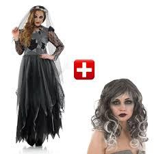halloween ladies fancy dress costume zombie bride uk