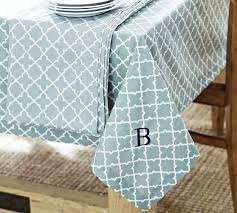 pottery barn table linens decor accessories roz tile tablecloth pottery barn blue and