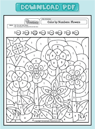 Color By Number Math Worksheets Awesome Collection Of Color By Number Weather Worksheet About