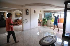 play badminton in the living room why not if you live in a jumbo