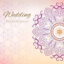 wedding backdrop vector wedding background with mandala design vector free