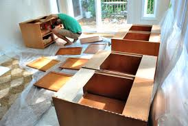 how to prep cabinets to paint cabinet painting prep house