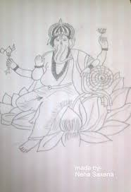 pencil sketch of lord ganesh desipainters com