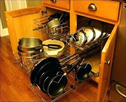 cabinet organizer for pots and pans pot and pan storage cabinet pot storage full size of kitchen pot