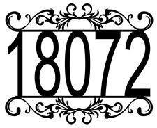 decorative house numbers ebay