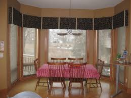 Window Treatments For Dining Room Dining Room Bay Window Treatments Curtains For Bay Windows In