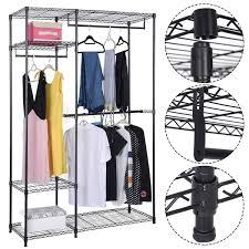 amazon com safstar portable clothes wardrobe garment rack home