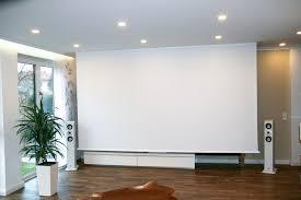 Wohnzimmer Heimkino Beamer Leinwand Projektionswände Projektionswand Motorleinwände