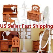 Plastic Bedroom Furniture by Dollhouse Bedroom Sets Ebay