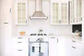 Glass Door Kitchen Cabinets Glass Door Kitchen Cabinets With Rubbed Bronze Pulls And Glass
