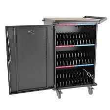 Charging Shelf 36 Device Ac Charging Station Cart Chromebooks Laptops Black