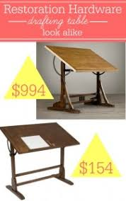 Cheap Drafting Table Restoration Hardware Drafting Table Look Alike Southern Savers