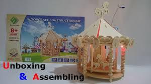 toys for kids mini carousel woodcraft construction kit video