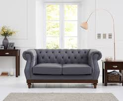 Grey Leather Chesterfield Sofa Casalivin Harlyn Bay Grey Leather Chesterfield Sofa With Ash