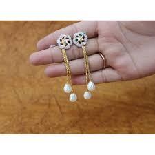 dangler earring artificial dangler earring at rs 1010 pair silver earring