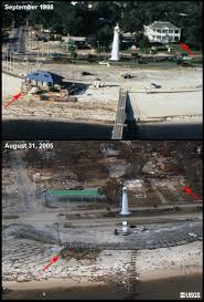 after hurricane katrina before and after biloxi mississippi